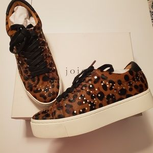 NEW | JOIE | CALF HAIR Leopard Print Stud SNEAKERS